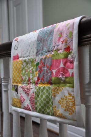 Quilt on stairs
