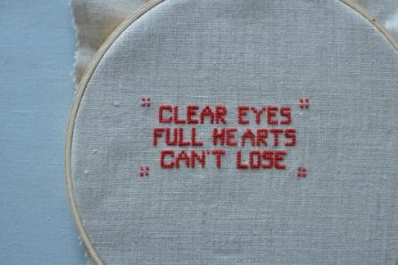 Friday night lights cross-stitch
