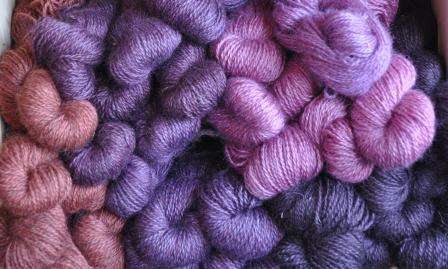 Purple wool yarn