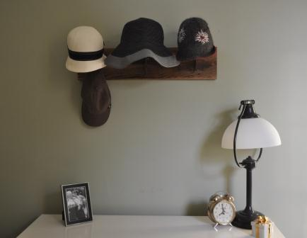 Hat rack full