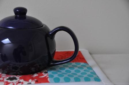 Tea pot and charm square hotpad