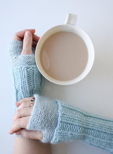 Cuffed hand warmers