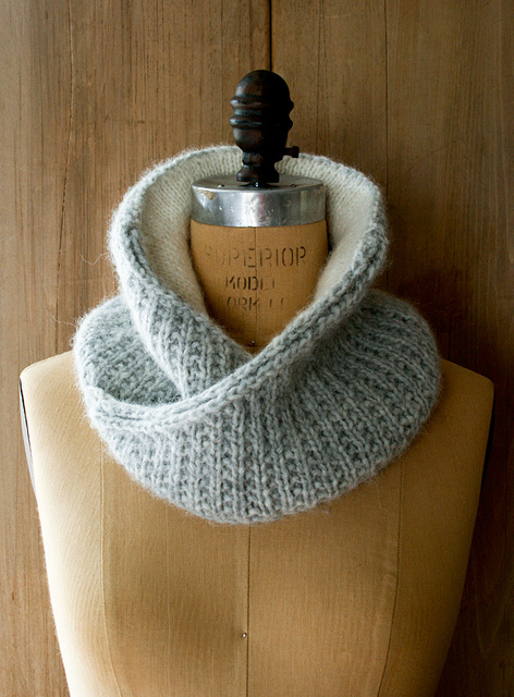 Purl soho shawl collar cowl
