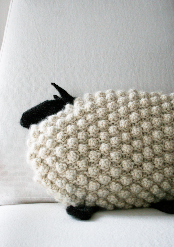 Bobble sheep pillow