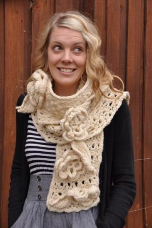 Lindy irish lace scarf