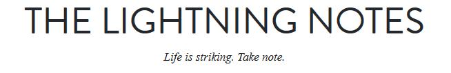 Lightning notes