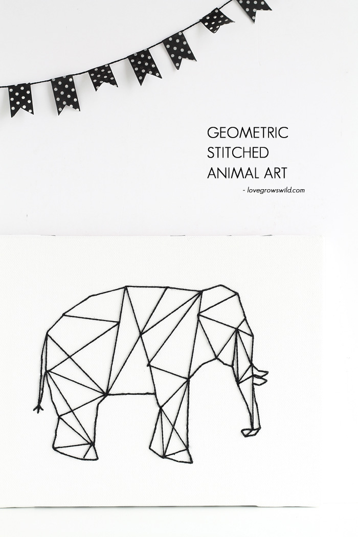 Geometric-Stitched-Animal-Art