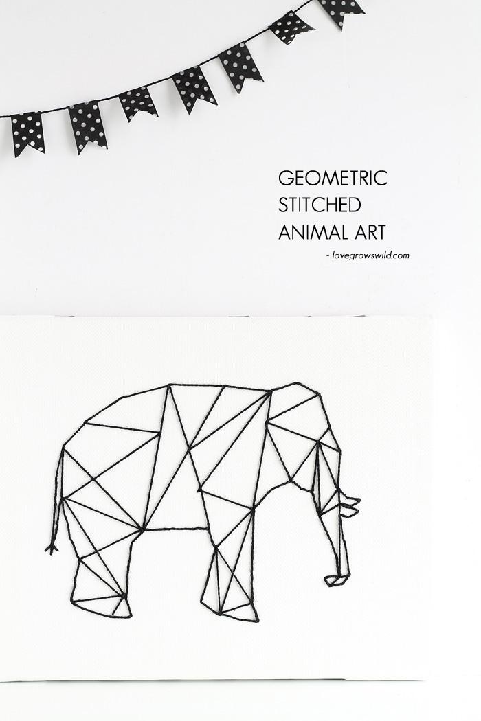 Geometric-Stitched-Animal-Art